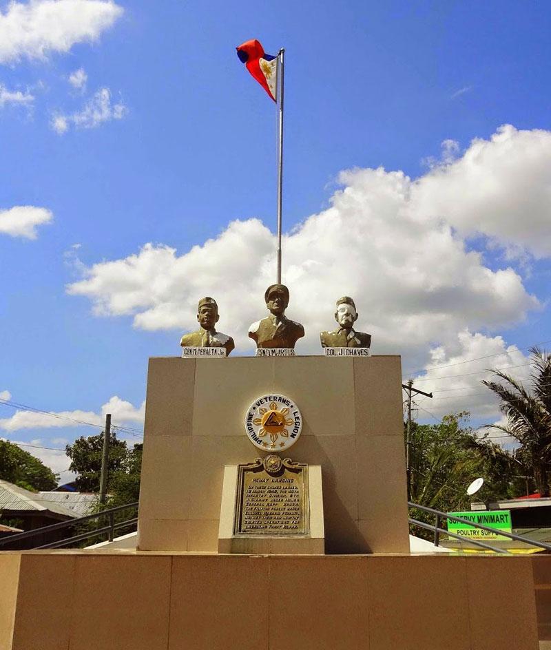 Panay Landing Memoria marker in Parara, Tigbauan.