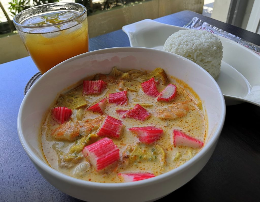 Seafood Laksa with Rice of 186 Laksa