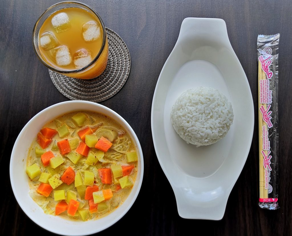 Vegetable Laksa with rice by 186 Laksa