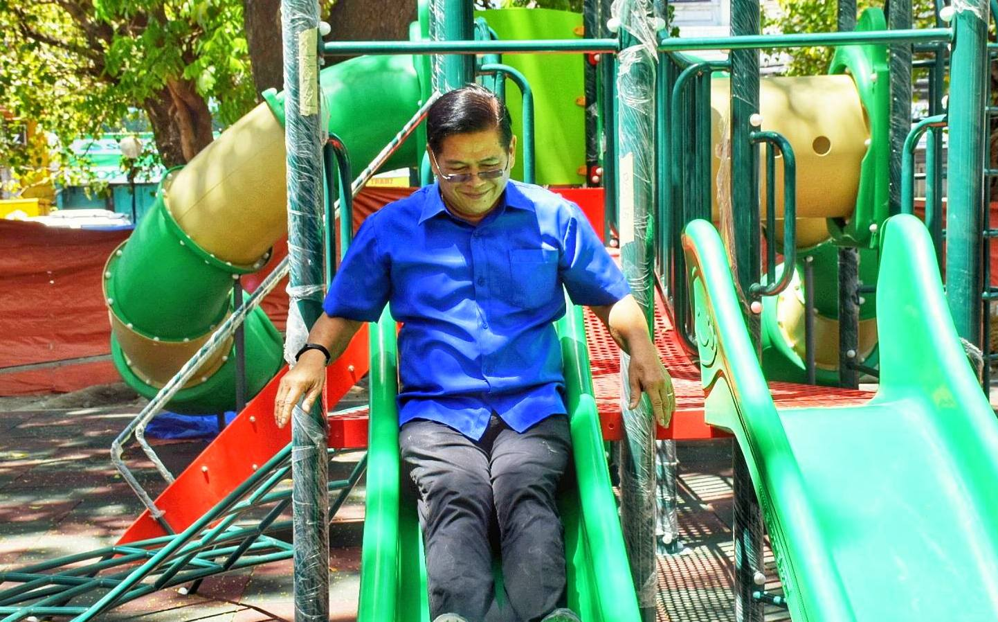 joe espinosa slides children playground