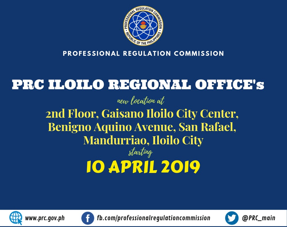 prc iloilo new office address