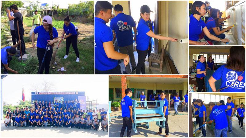 SM City Iloilo employees joins Brigada Eskwela 2019