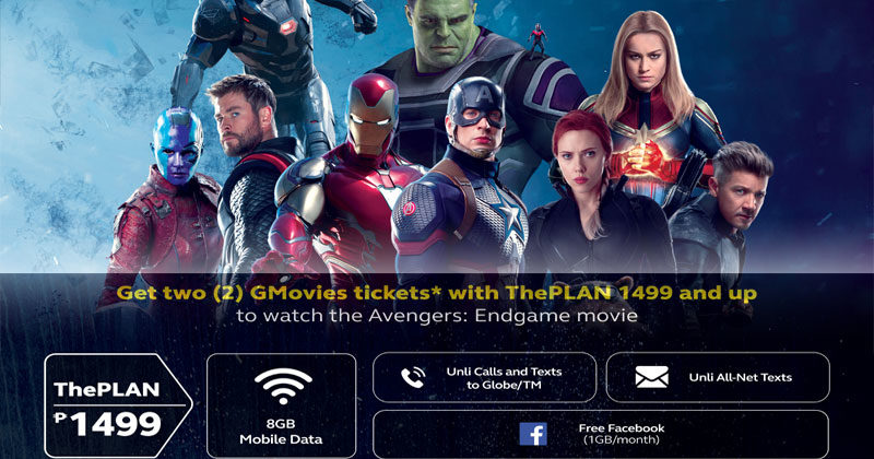 Get movie passes to Avengers: Endgame with Globe At Home and Globe Postpaid!