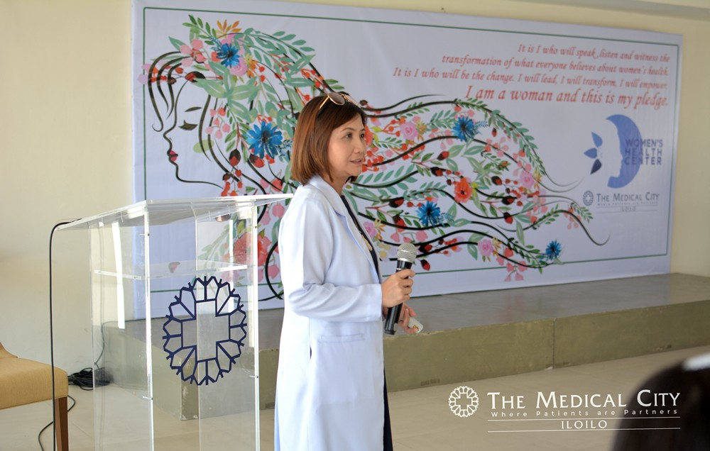 "TMC Iloilo Women's Health Center Program Head Dr. Razel Colacion tackled the topic ""Let's Get Into the Pap Talk""."