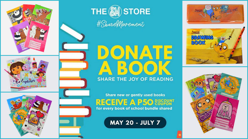 The SM Store #ShareMovement presents Donate-A-Book