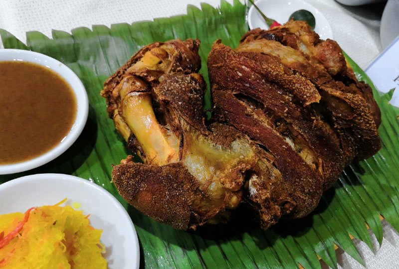 Crispy Pata at The Mansion