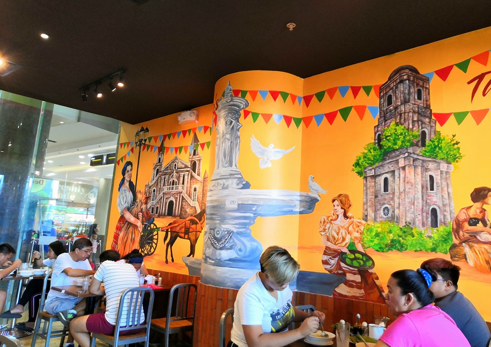Wall mural at Deco's Batchoy in Jaro.