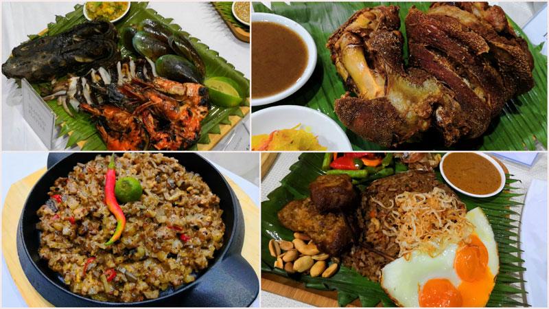 Nasi Goreng, Crispy Pata, Sisig Kapampangan and Seafood Platter