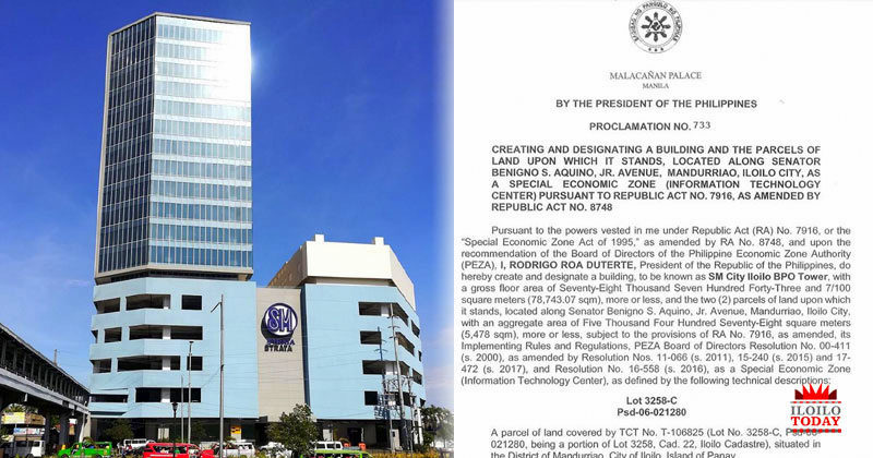 Malacañang proclaims SM Strata as Special Economic Zone