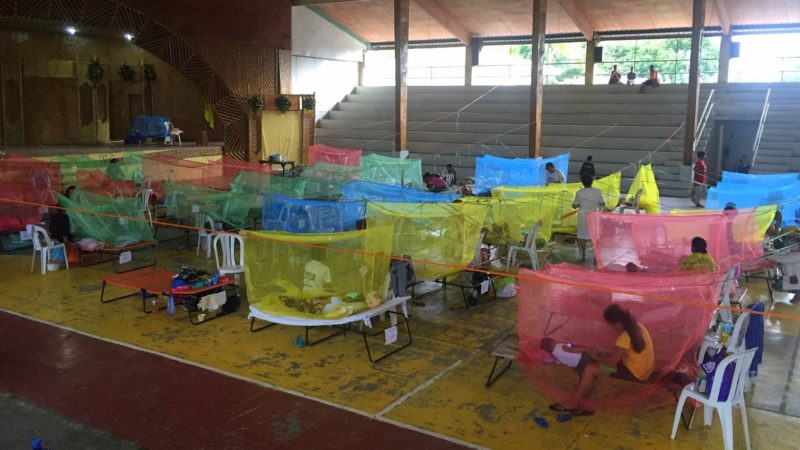 LOOK: Maasin gym turned into hospital ward for dengue patients