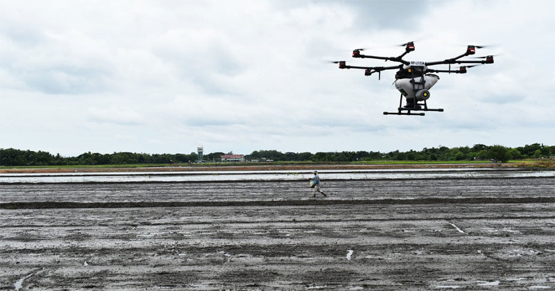 GROWN BY DRONE: Agricultural drones introduced to Iloilo rice farmers