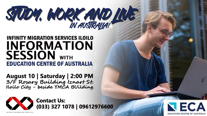 Infinity Migration Services and Education Centre of Australia to hold free info session in Iloilo.
