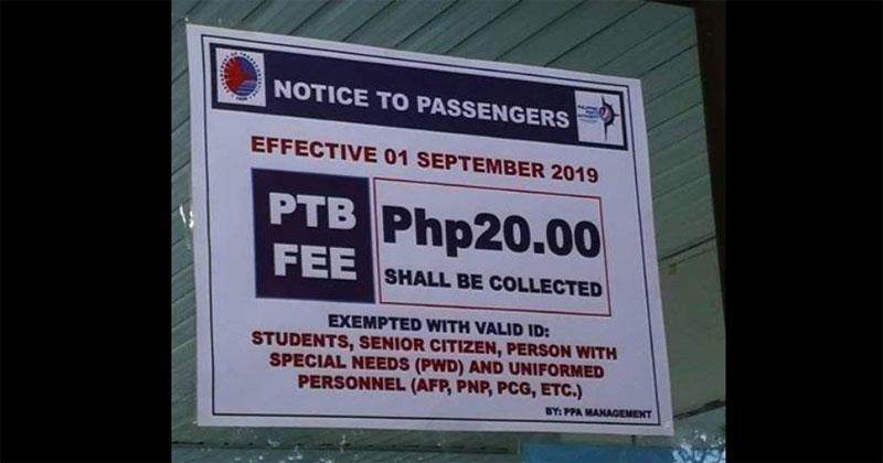 Gumarin asks PPA to waive P20 terminal fee