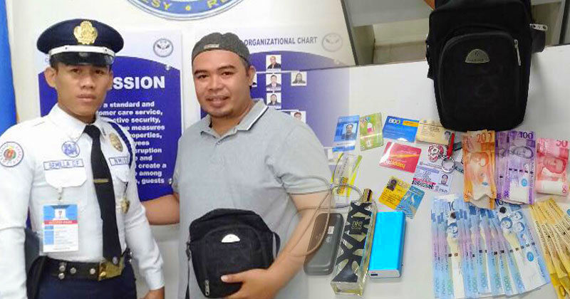 SM Guard returns bag with valuable items
