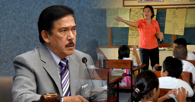 Sen. Tito Sotto wants income tax exemption for teachers