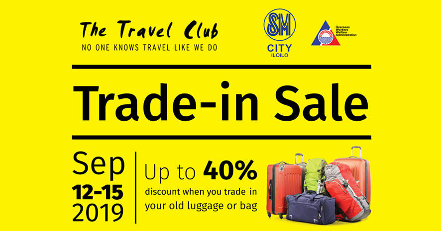 The Travel Club Trade-in Sale on September 12-15.