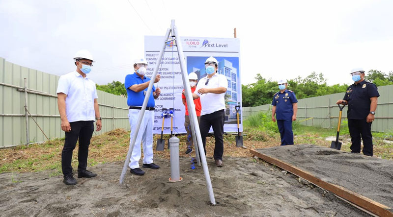 Groundbreaking of Iloilo City ICARE command center at Gaisano ICC.