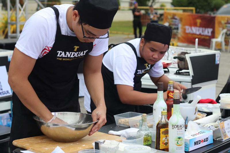Cooking contest at Tanduay Rum Festival Bacolod.