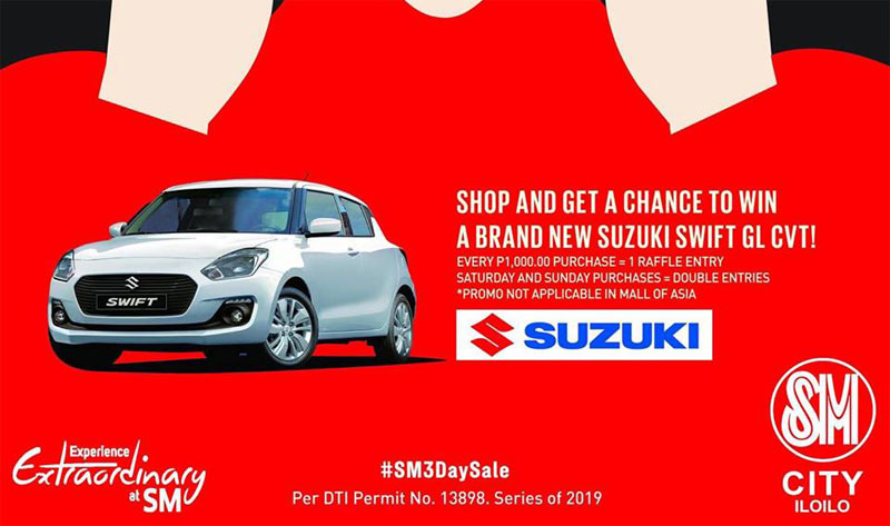 Shop and Win Suzuki Swift Car