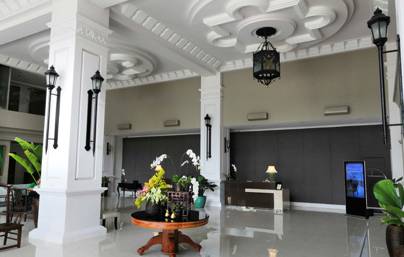 New lobby of The Mansion Hotel Iloilo.