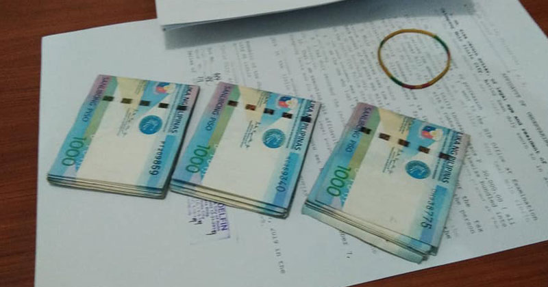 P30,000 cash found by ICNHS students.