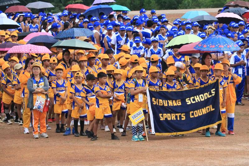 Athletes and coaches from Sibunag.