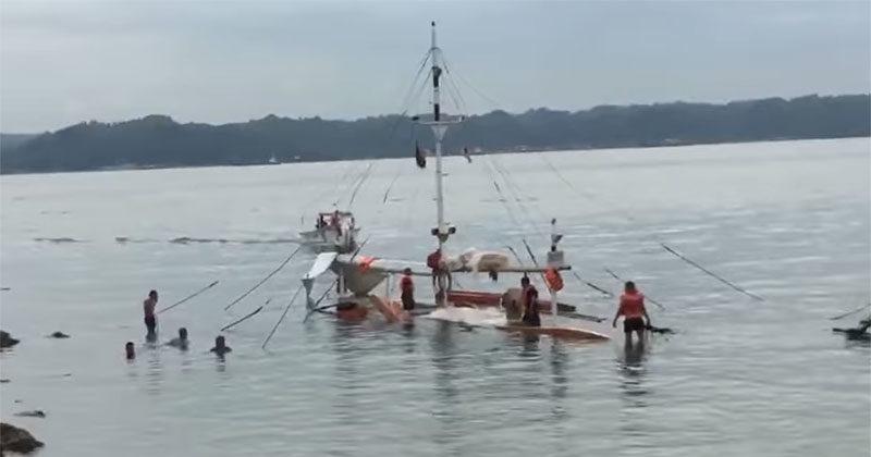 Guimaras-bound motorbanca capsizes in Iloilo Strait