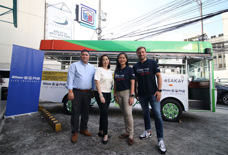 Allianz PNB Life has announced its partnership with eSakay, the electric vehicle unit of Meralco.