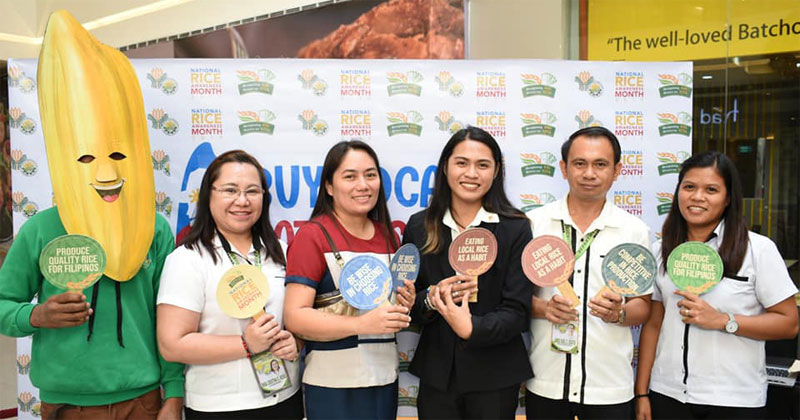 Department of Agriculture region 6 urges consumers to buy local rice.