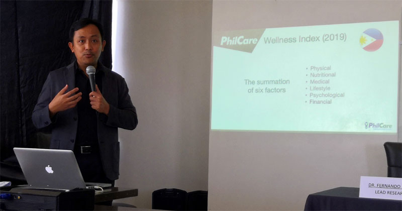 Dr. Fernando Paragas presents 2019 Philcare Wellness Index in Iloilo City.