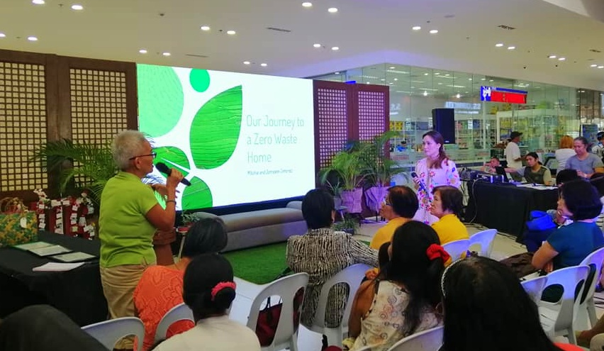 Mitchie Jimenez talks about her Journey to Zero Waste at Home during GT Town Center's eco-friendly event.