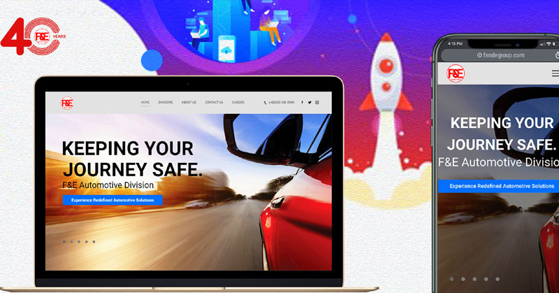 F&E Group of Companies launch an upgraded website