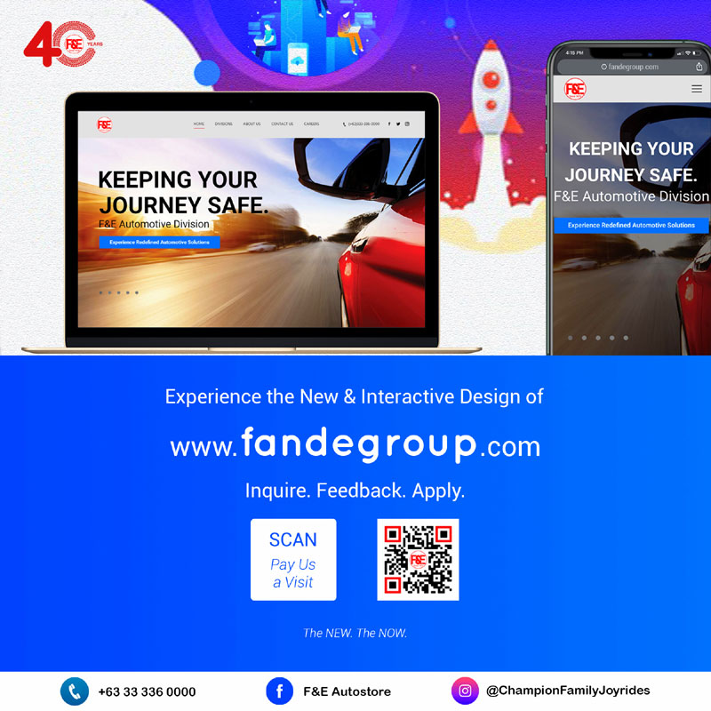 F&E Group of Companies new website and social media.