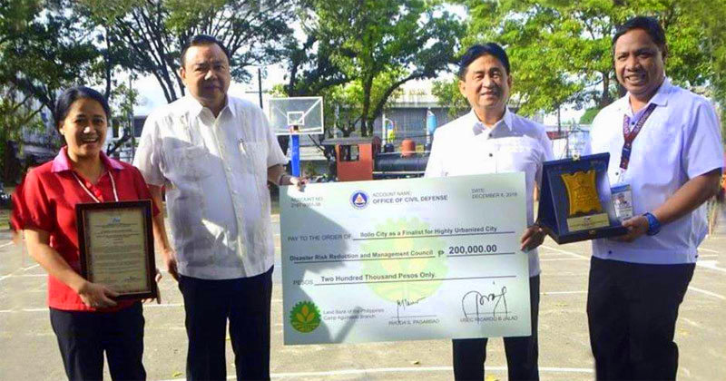 Iloilo City wins P200,000 as Gawad Kalasag national finalist