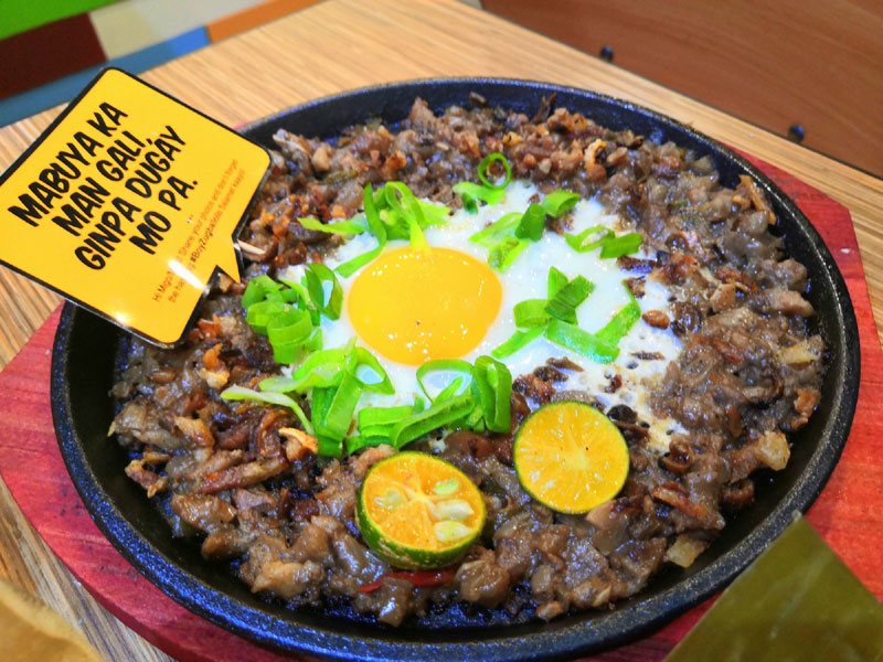 Sizzling Sisig with Hugot Line!