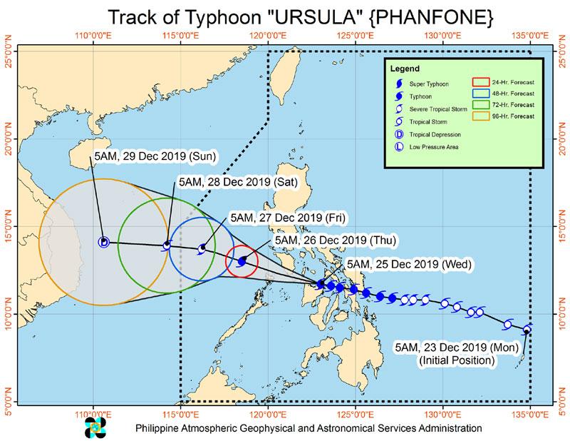 Northern Iloilo under Signal no. 3 as Typhoon Ursula brings 'very destructive winds'