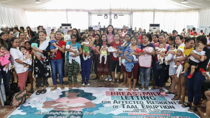 400 nursing moms donate breastmilk for 'Taal' babies