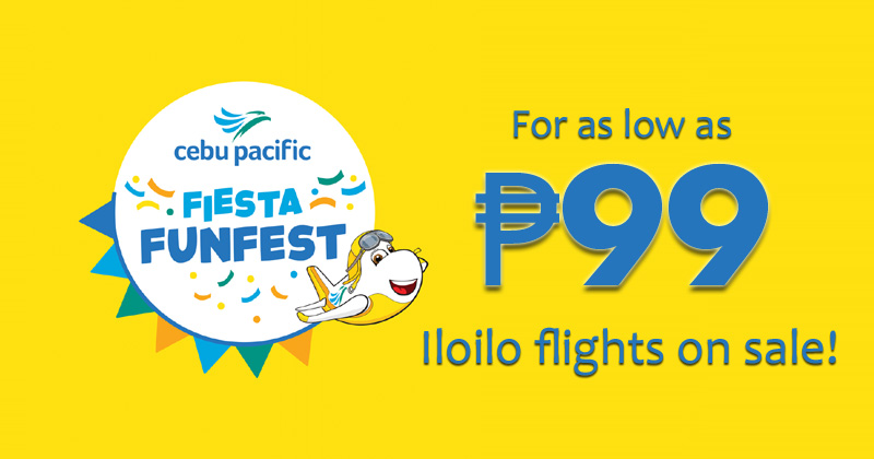 Cebu Pacific offers Iloilo Seat Sale as low as ₱99 this Jan. 24-26!