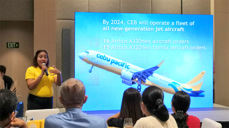 Charo Logarta Lagamon explains Cebu Pacific Air expansion.