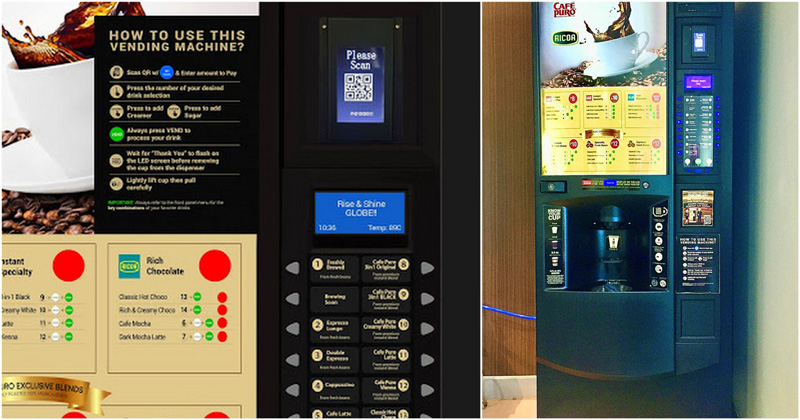 Globe and Vend Phils QR code operated vending machines
