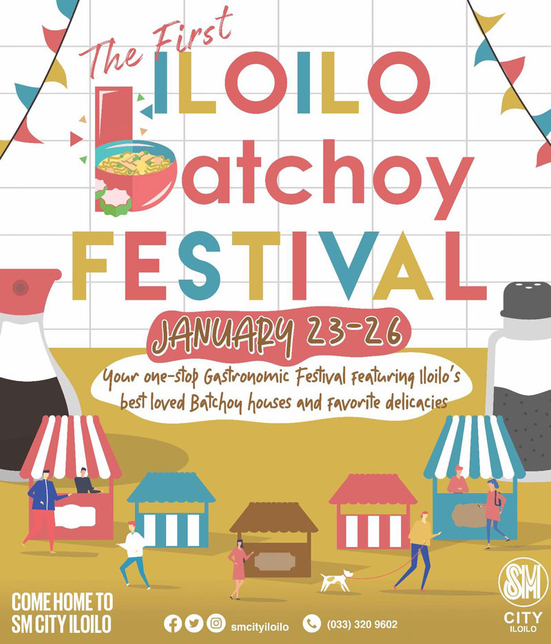 First-ever Iloilo Batchoy Festival opens January 23, 4PM at SM City Iloilo Southpoint.