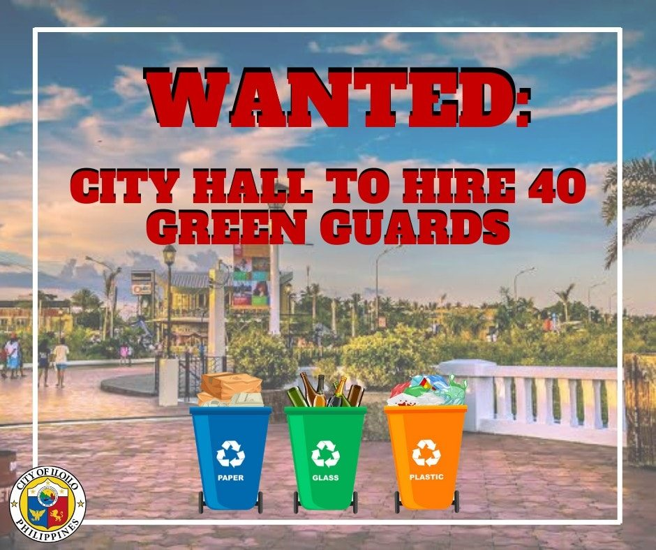 Iloilo City will add 40 more green guards and provide garbage bins around downtown area to maintain cleanliness.