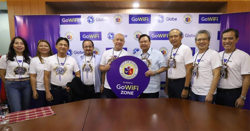 Globe wifi for Iloilo City public schools.