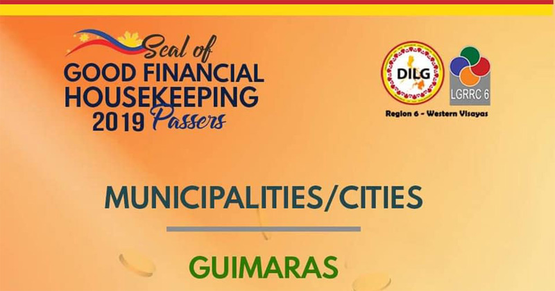 Guimaras gets DILG Good Financial Housekeeping Seal 2019.