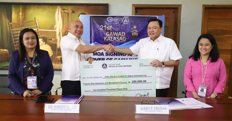 Iloilo City gets ₱200,000 for disaster prep award