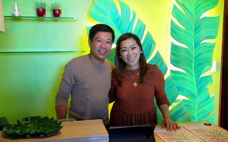 Leaf Healing Spa owners Gerry and Jhane Almonte.