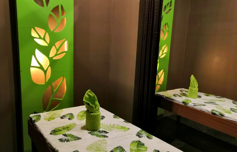 Couple room at Leaf Healing Spa.