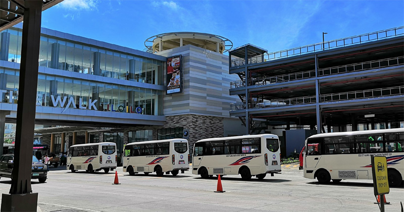 Modern jeepneys line up at Megaworld Iloilo Business Park.