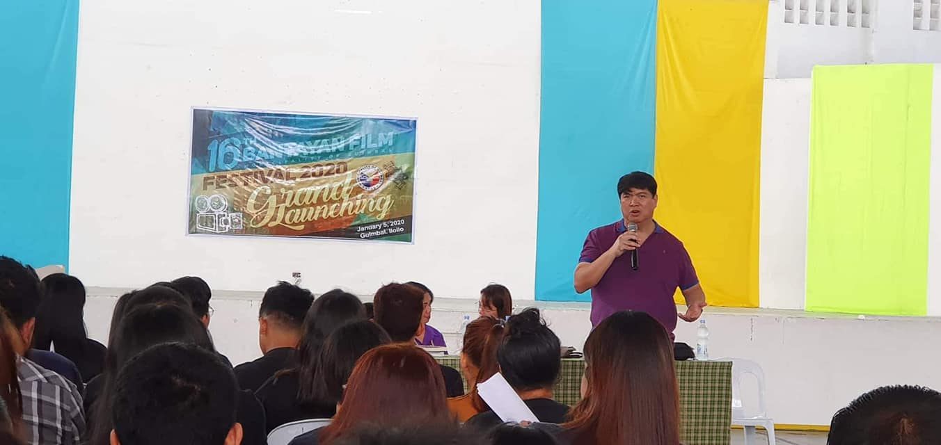 Richard Garin during the launching of Bantayan Film Festival 2020.