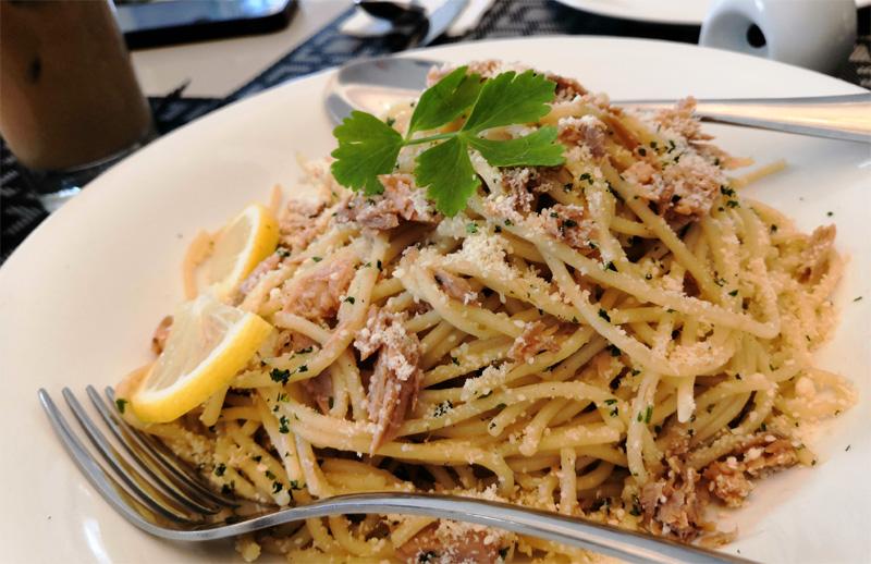 Tuna Pasta at The Mansion Iloilo.